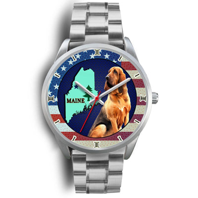 Lovely Bloodhound Dog Maine Christmas Special Wrist Watch-Free Shipping