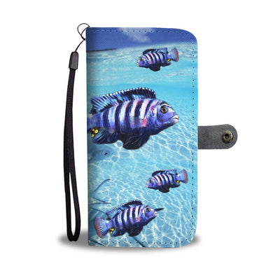 Afra Cichlid Fish Print Wallet Case-Free Shipping