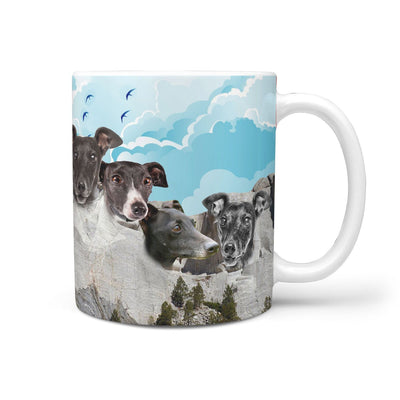 Amazing Italian Greyhound Dog Mount Rushmore Print 360 Mug