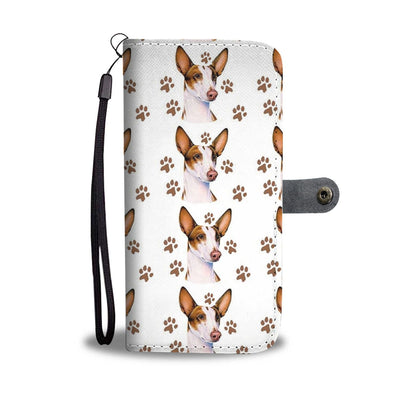 Ibizan Hound Dog Paws Patterns Print Wallet Case-Free Shipping