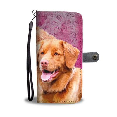 Lovely Nova Scotia Duck Tolling Retriever Dog Print Wallet Case-Free Shipping