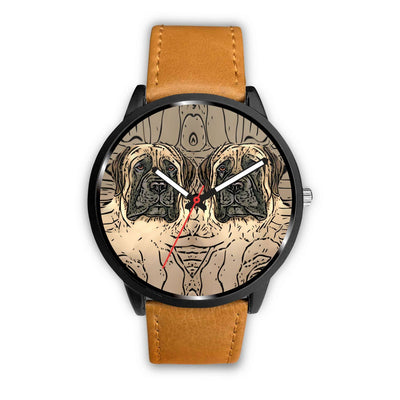 English Mastiff Dog Print Wrist Watch-Free Shipping