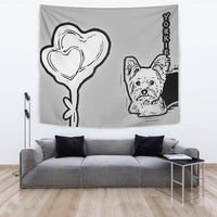 Yorkie Dog Print Tapestry-Free Shipping