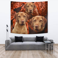 Cute Wirehaired Vizsla Print Tapestry-Free Shipping