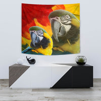 Blue and Yellow Macaw Print Tapestry-Free Shipping