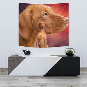 Cute Vizsla Dog Print Tapestry-Free Shipping