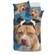 American Staffordshire Terrier Print Bedding Set- Free Shipping