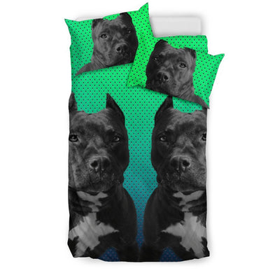 Amazing Pit Bull Dog Print Bedding Set-Free Shipping