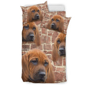 Cute Redbone Coonhound Dog Print Bedding Set- Free Shipping