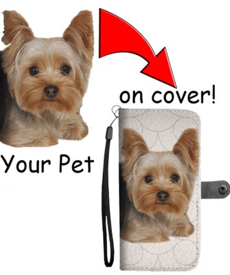 Personalised Mobile Wallet Cover Featuring Your Pet