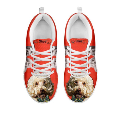 Labradoodle With Bow Tie Print Running Shoes For Women- Free Shipping- For 24 Hours Only
