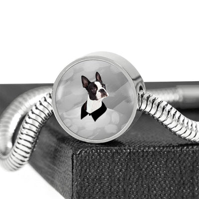 Boston Terrier Print Steel Bracelet-Free Shipping