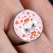 Maltese Dog Print Signet Ring-Free Shipping