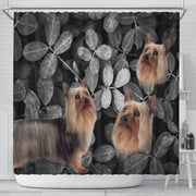 Lovely Australian Silky Terrier Print Shower Curtains-Free Shipping