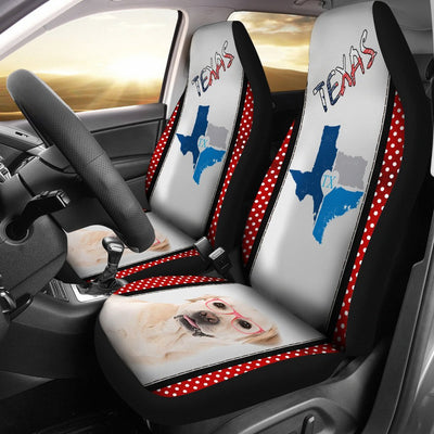 Labrador Print Car Seat Cover-Free Shipping-TX State