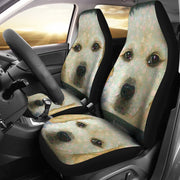 Golden Retriever Puppy Art Print Car Seat Covers-Free Shipping