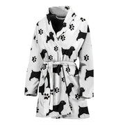 Norfolk Terrier With Paws Patterns Print Women's Bath Robe-Free Shipping