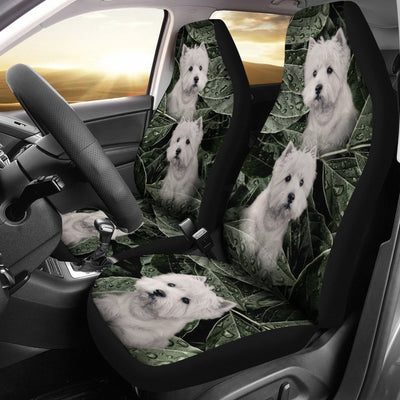 Cute West Highland White Terrier Print Car Seat Covers- Free Shipping