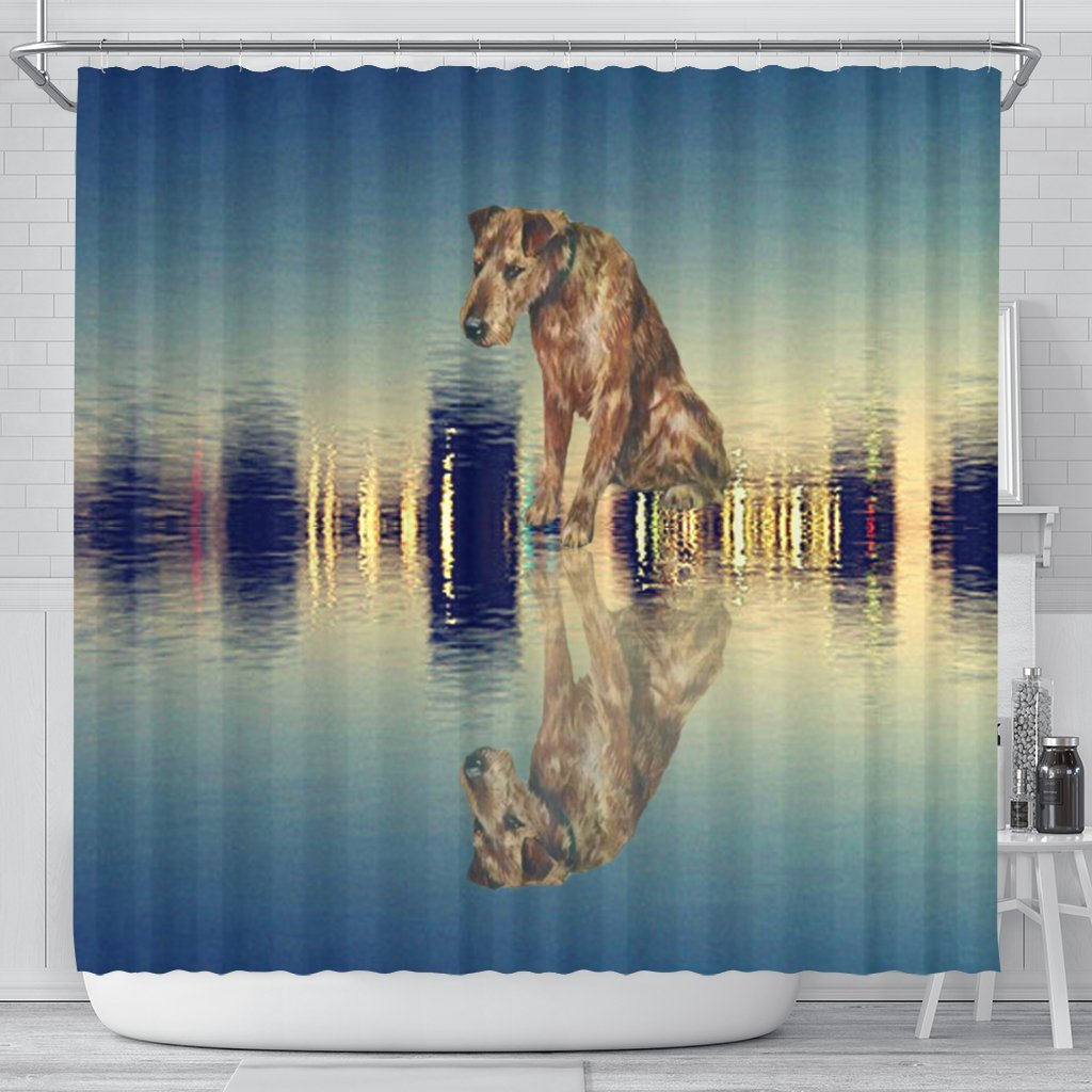 Amazing Irish Terrier Dog Print Shower Curtain-Free Shipping