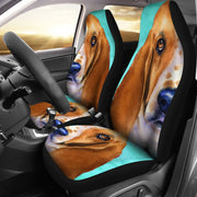 Basset Hound Dog Art Print Car Seat Covers-Free Shipping