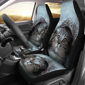Cute Cat Art Print Car Seat Covers-Free Shipping