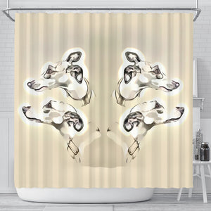 Whippet Dog Print Shower Curtain-Free Shipping