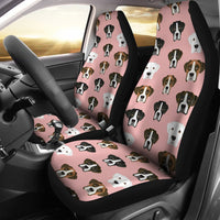Boxer Dog On Pink Print Car Seat Covers-Free Shipping