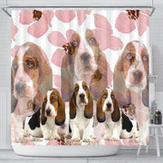 Basset Hound Print Shower Curtains- Free Shipping