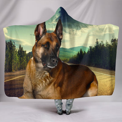Malinois Dog Print Hooded Blanket-Free Shipping