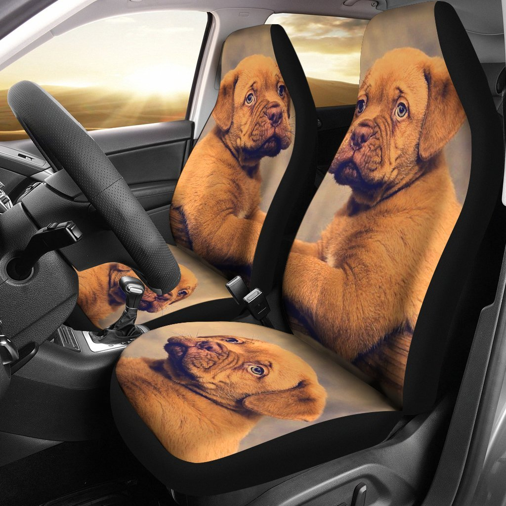 Dogue De Bordeaux (Bordeaux Mastiff) Puppy Print Car Seat Covers-Free Shipping