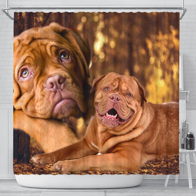 Dogue De Bordeaux Print Shower Curtains-Free Shipping