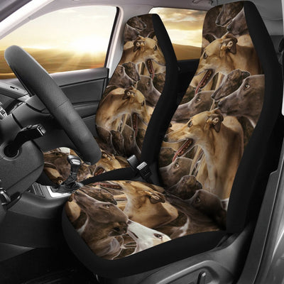 Greyhound Dog In Lots Print Car Seat Covers-Free Shipping