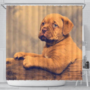 Dogue De Bordeaux (Bordeaux Mastiff) Puppy Print Shower Curtains-Free Shipping