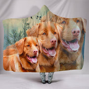 Lovely Nova Scotia Duck Tolling Retriever Dog Print Hooded Blanket-Free Shipping
