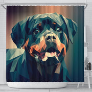 Rottweiler Dog Vector Art Print Shower Curtains-Free Shipping
