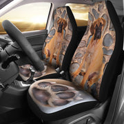 Bullmastiff Dog With Paw Print Car Seat Covers- Free Shipping