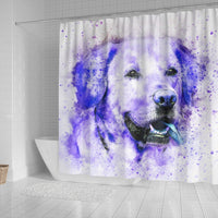 Labrador Dog Watercolor Art Print Shower Curtains-Free Shipping