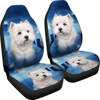 Cute Westie Dog Print Car Seat Covers- Free Shipping