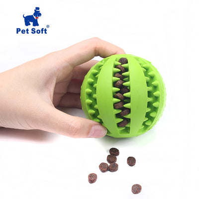 Pet Sof Pet Dog Toys Toy Funny Interactive Elasticity Ball Dog Chew Toy For Dog Tooth Clean Ball Of Food Extra-tough Rubber Ball