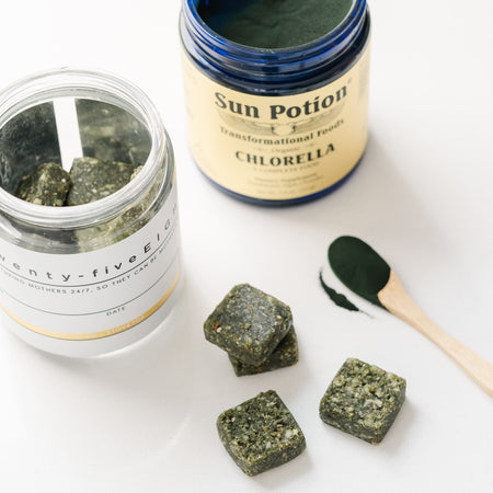 Superfood Millionaire Bites + Sun Potion Chlorella Powder