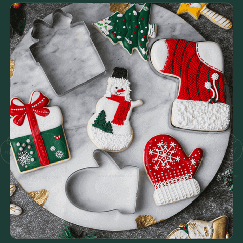 assorted Christmas Cookie cutters