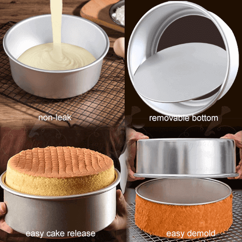 round cake mould with removable bottom