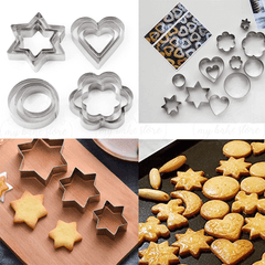 stainless steel cookie cutters, veg cutters