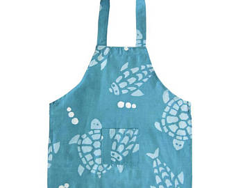 Fair Trade for Women -Apron-Reversible-Fishy Turtles