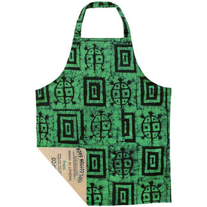 For the Home Fair Trade Batik Apron-Box Turtle