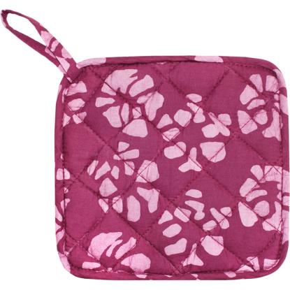 Home Fair Trade Pot Holder - Camilia Wine