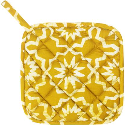 Home Fair Trade pot holders - Sahara/mustard
