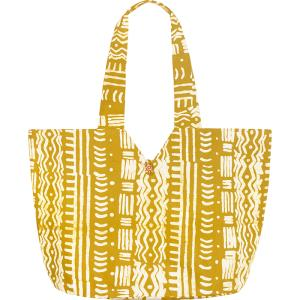 Tote Fair Trade organic Cotton Batik Mustard