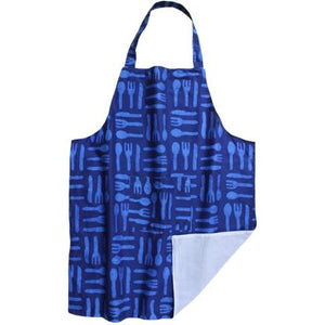 Fair Trade for Women-Apron-Silverware Blue