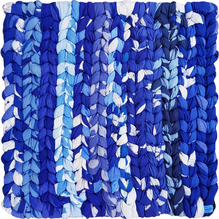 Home Fair Trade Organic Cotton Trivet Blue